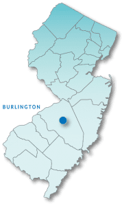 Burlington County map
